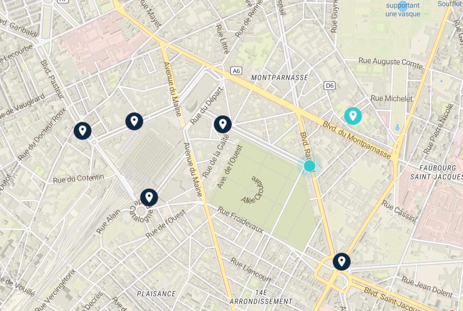 montparnasse map luggage storage points