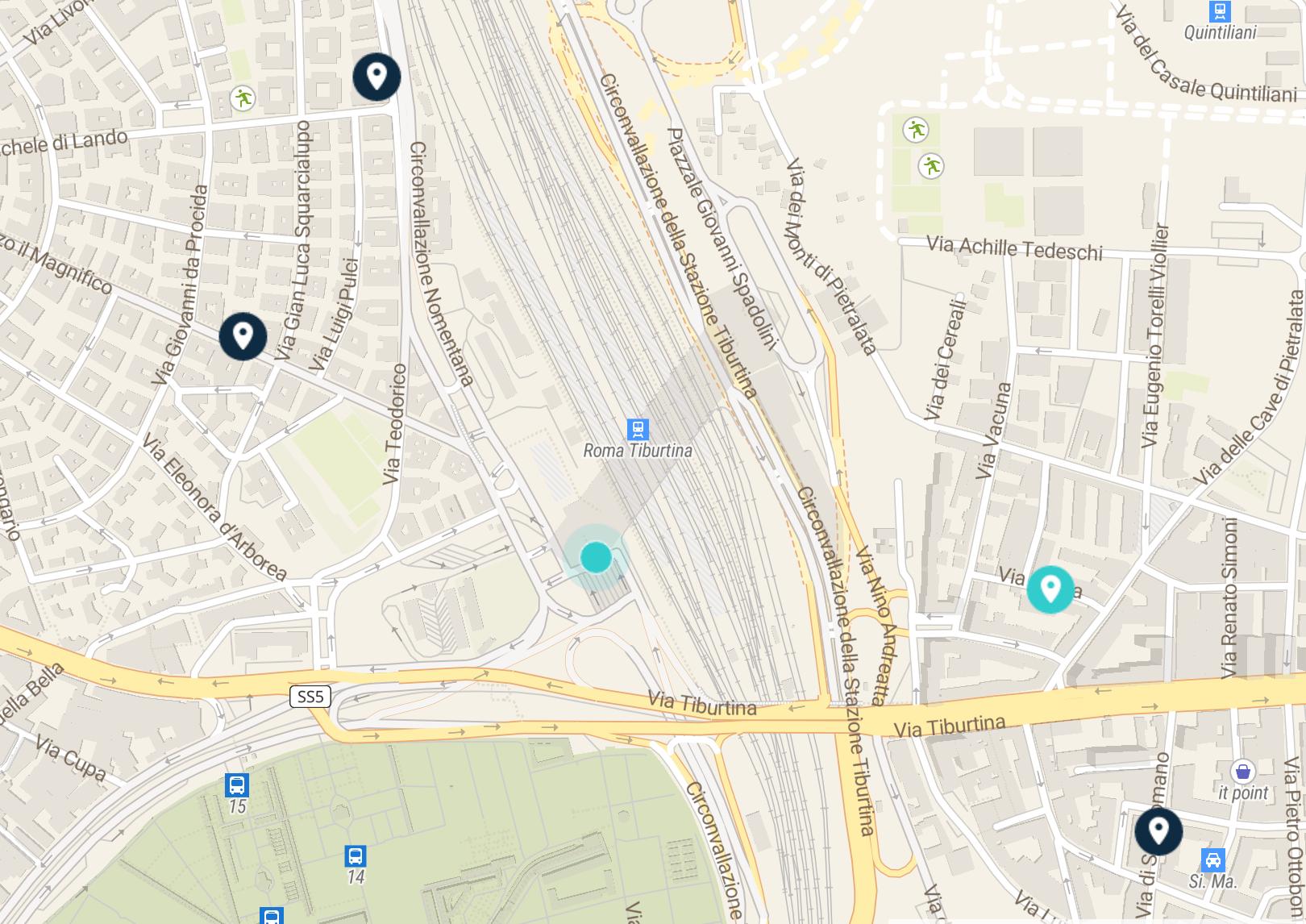 tiburtina station map: luggage storage