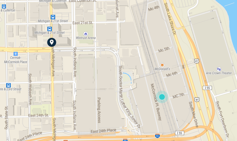 McCormick Place map