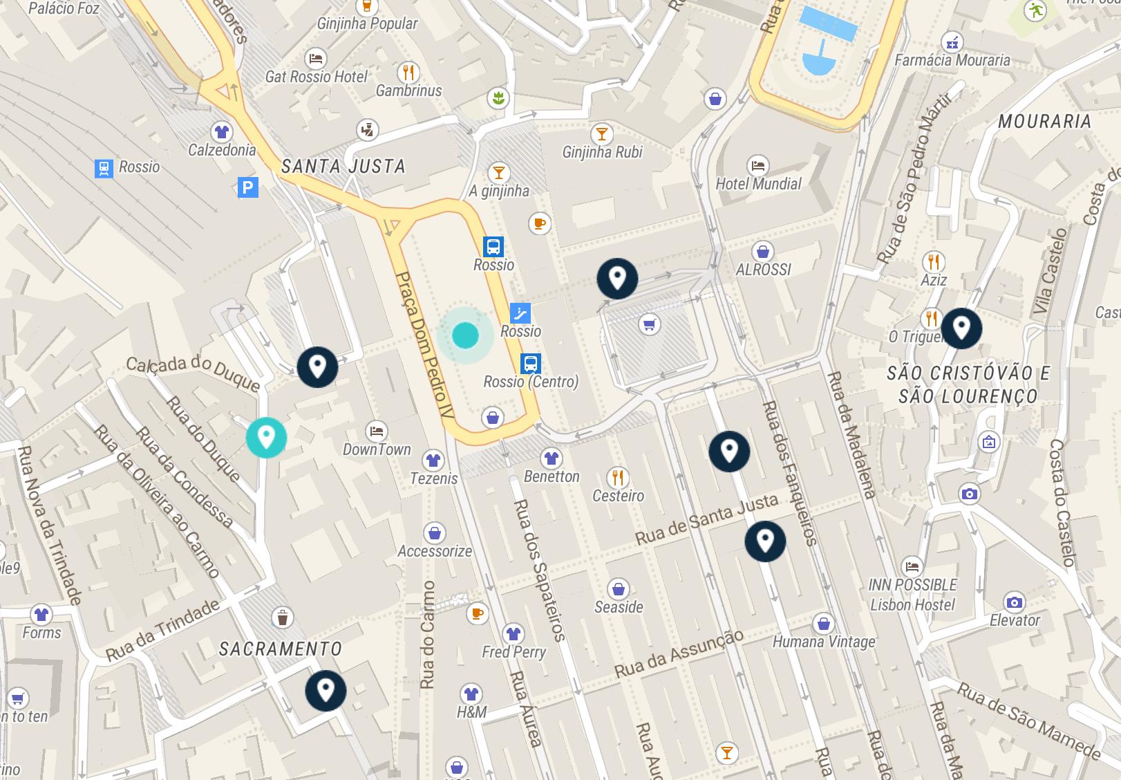 luggage storage rossio map