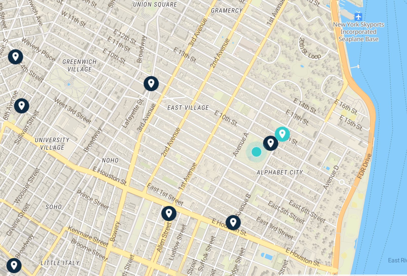 Luggage storage east village nyc map